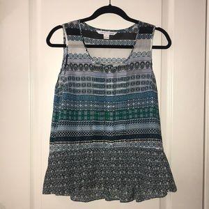 Diane Von Frustenberg sleeveless patterned top